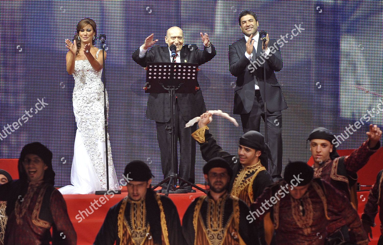 Lebanese Singers Wadih Alsafi c Najwa Karam Editorial Stock Photo