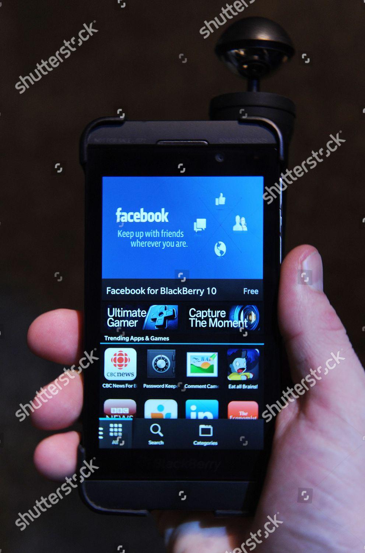Display New Blackberry Z10 Handset Held Camera Editorial
