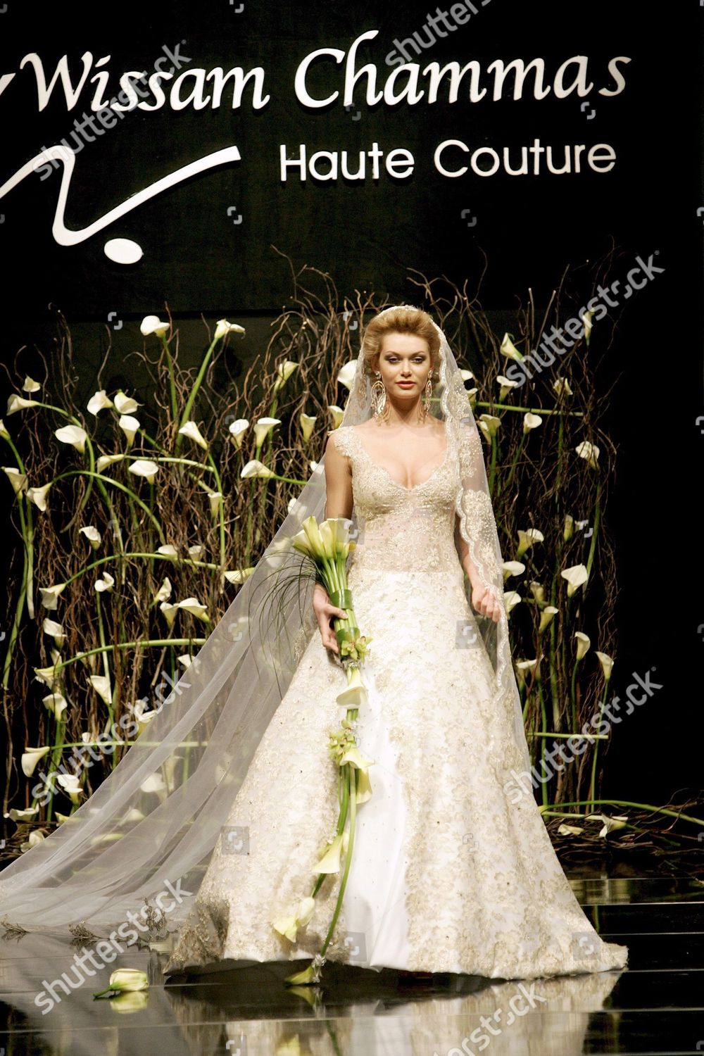 Model Presents Wedding Dress By Lebanese Fashion Editorial Stock Photo Stock Image Shutterstock