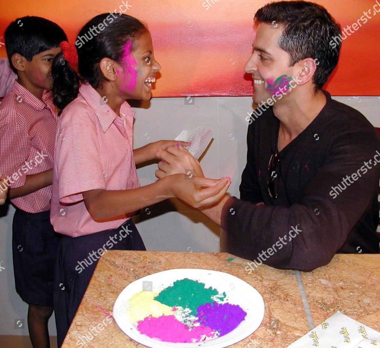 Bollywood Star Hrithik Roshan Powders School Children