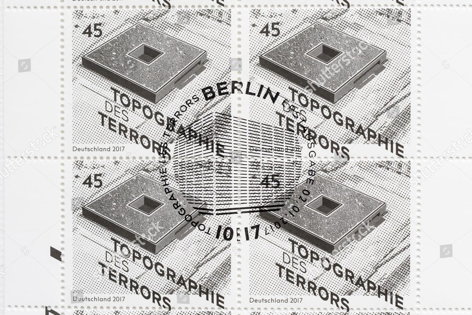 German Finance Minister Schaeuble Presents Special Issue Stamp Berlin Germany