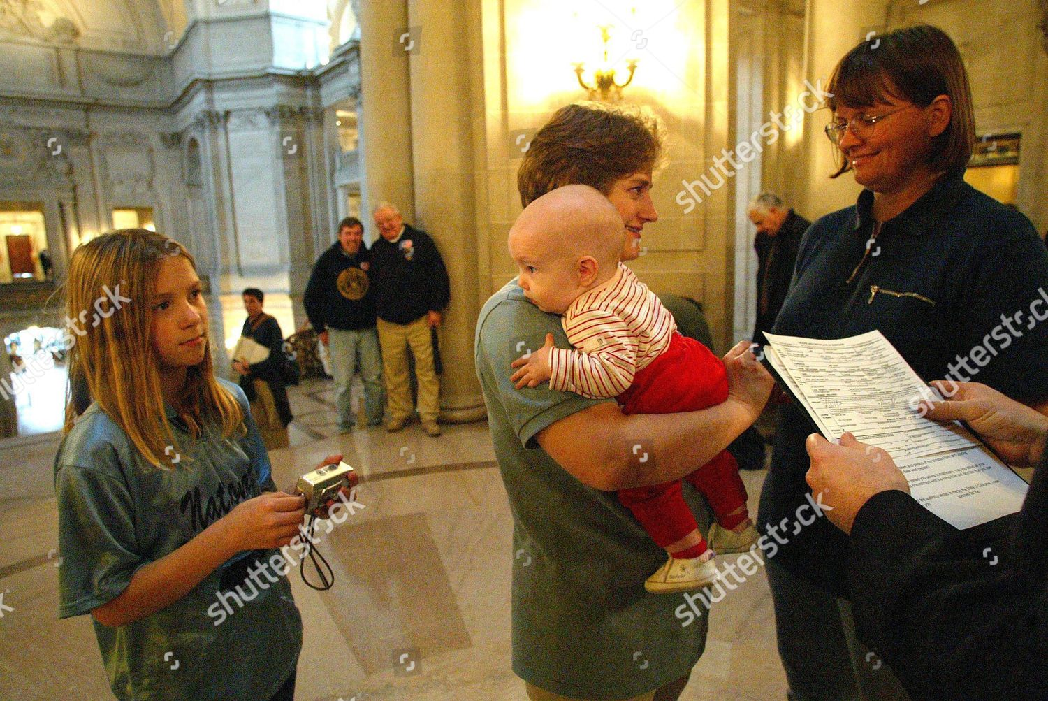 Stock photo of Usa Gay Marriage Licenses - Feb 2004