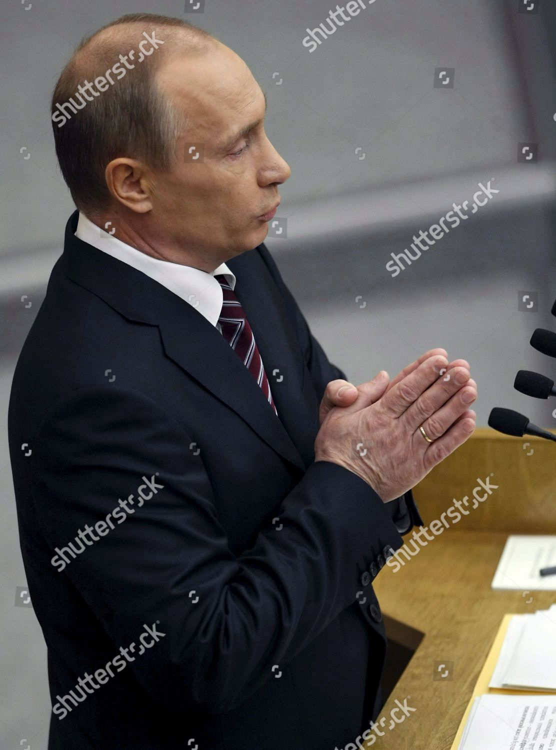 Russian Prime Minister Vladimir Putin Addresses Duma Editorial Stock Photo Stock Image Shutterstock