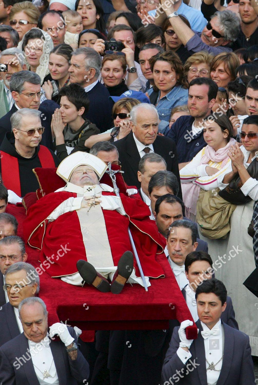 Pope Joh Paul Iis Body Transferred St Editorial Stock ...