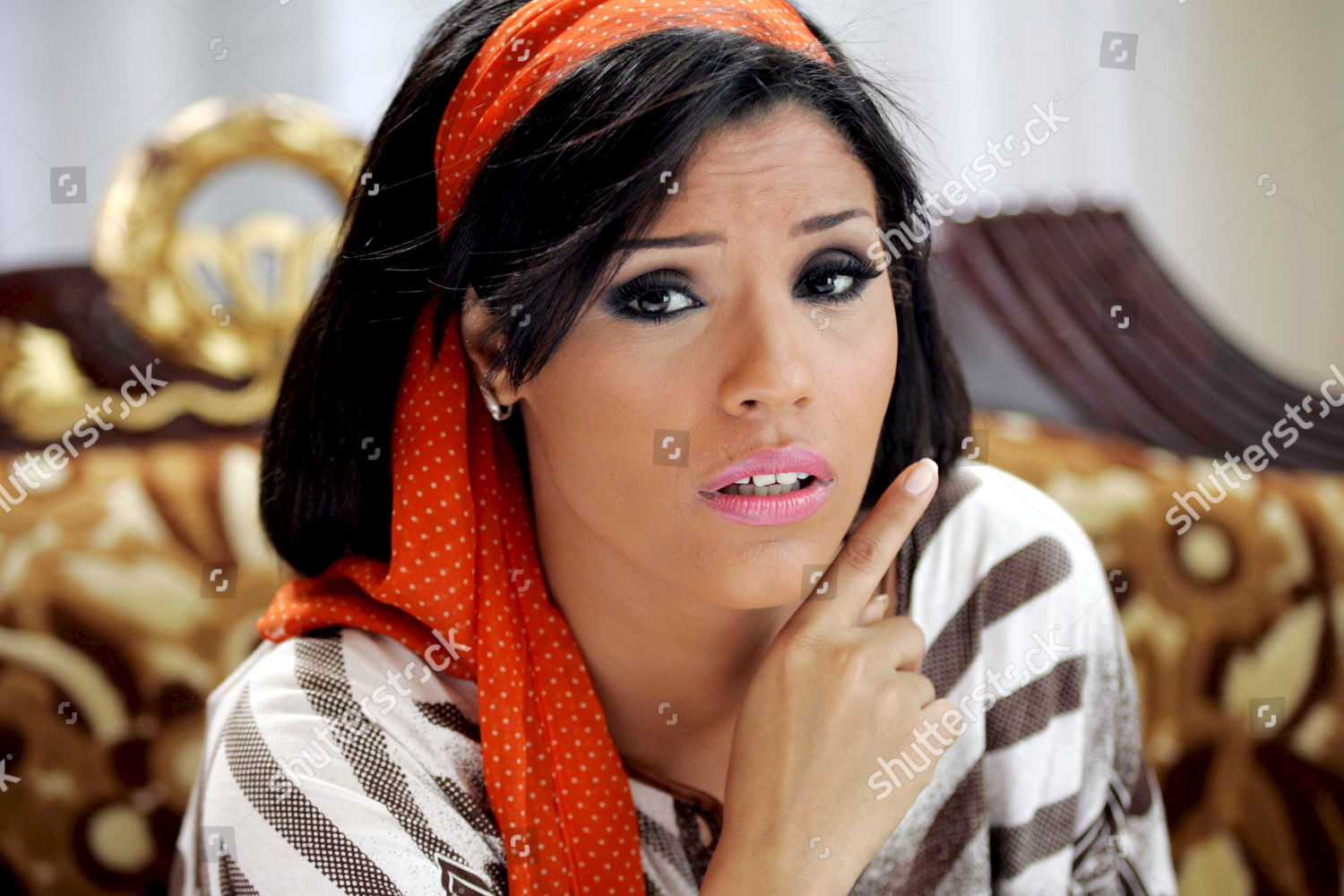 Egyptian Singer Amina Performs Scene Her New Editorial Stock Photo
