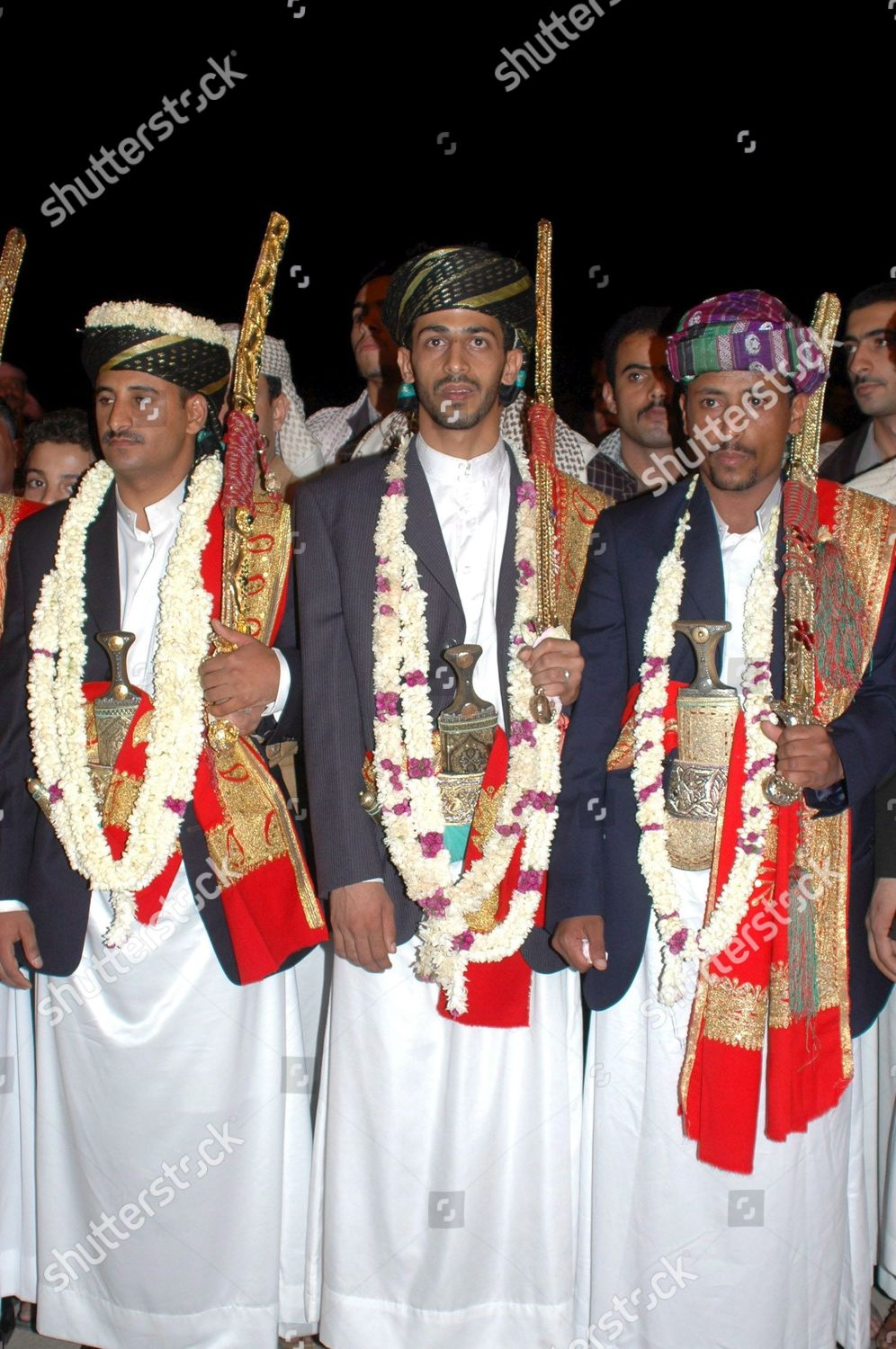 Grooms Attired Traditional Wedding Dresses Seen During Editorial