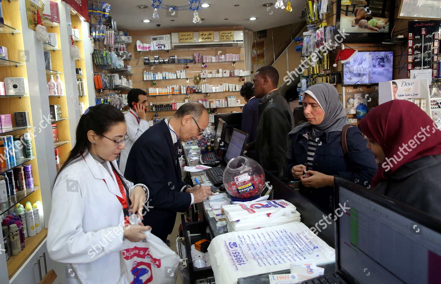 Customer buy medicine pharmacy Cairo Egypt 15 Editorial Stock Photo - Stock Image | Shutterstock