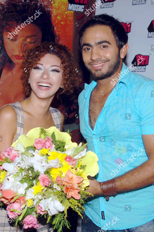 Egyptian Singer Tamer Housni r Lebanese Singer Editorial Stock Photo