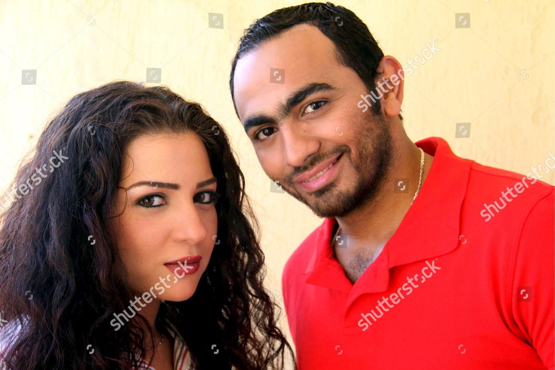 Egyptian Singer Actor Tamer Housni r Egyptian Editorial Stock Photo