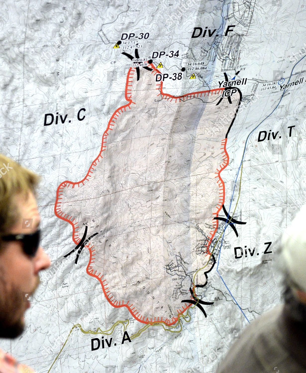 Map Showing Burn Area Yarnell Hill Fire Editorial Stock Photo