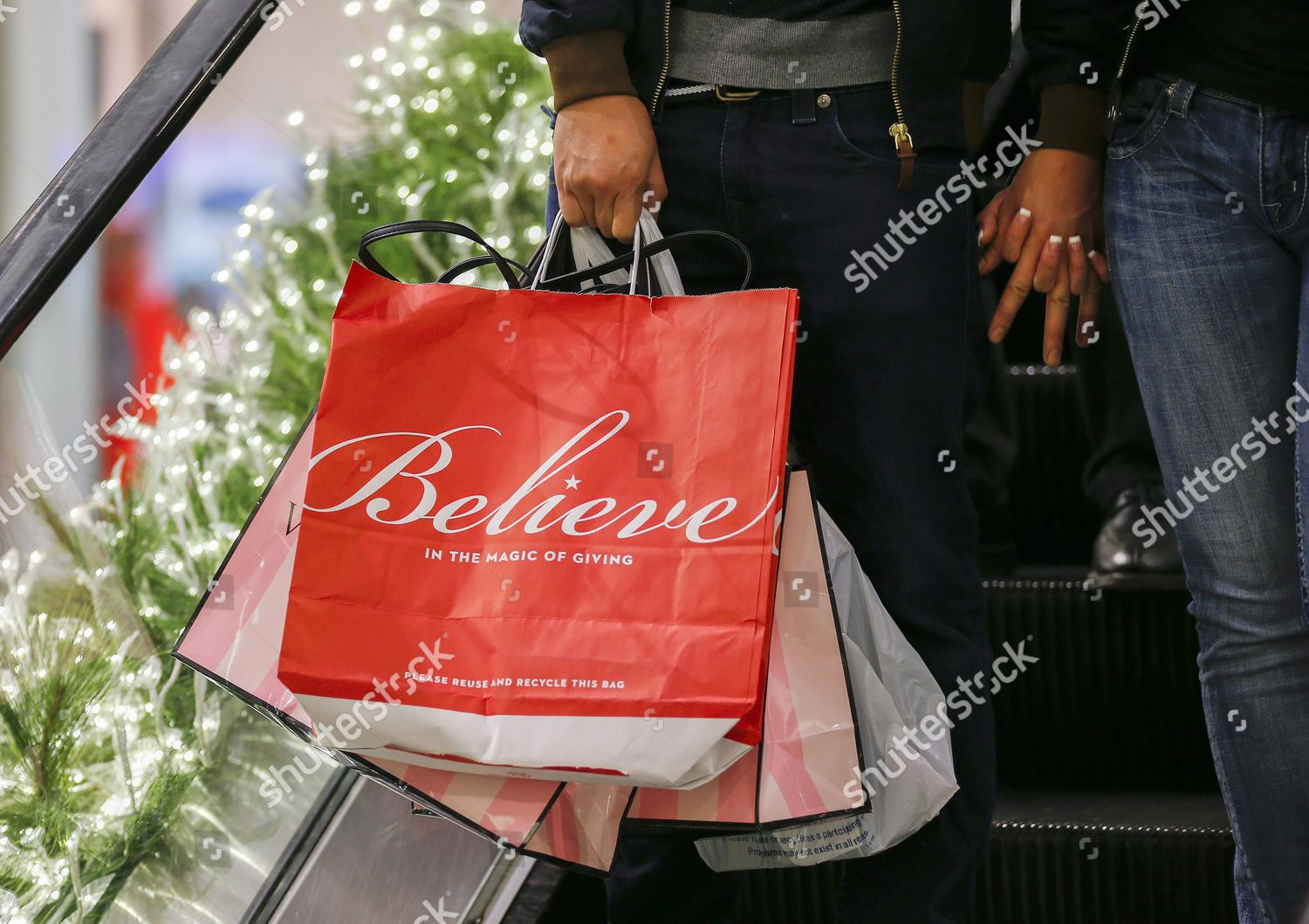Early Black Friday Shoppers Crowd Lenox Square Stock Photo 7933851i
