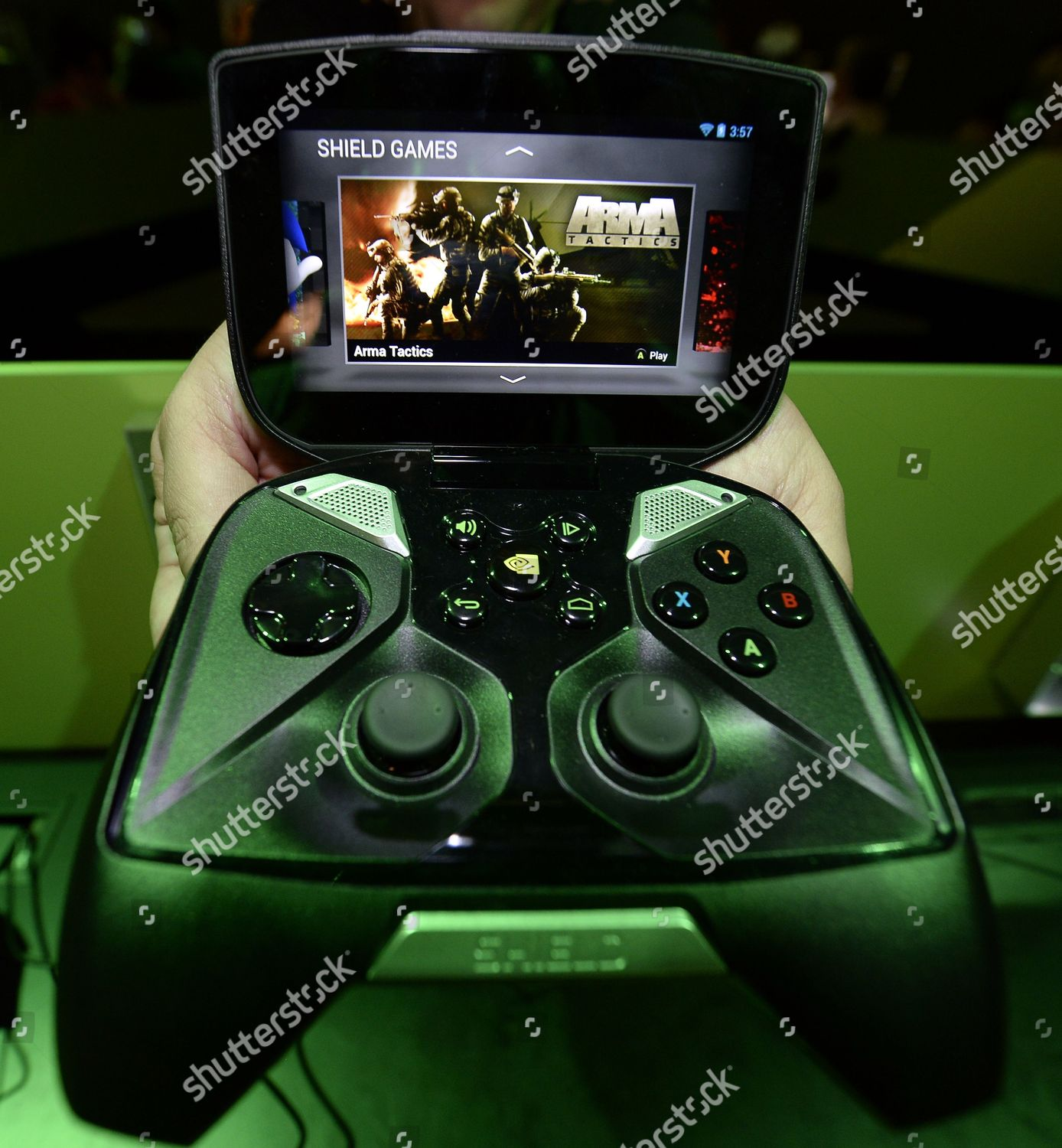 New Nvidia Gaming Controller Android Touch Screen Editorial Stock