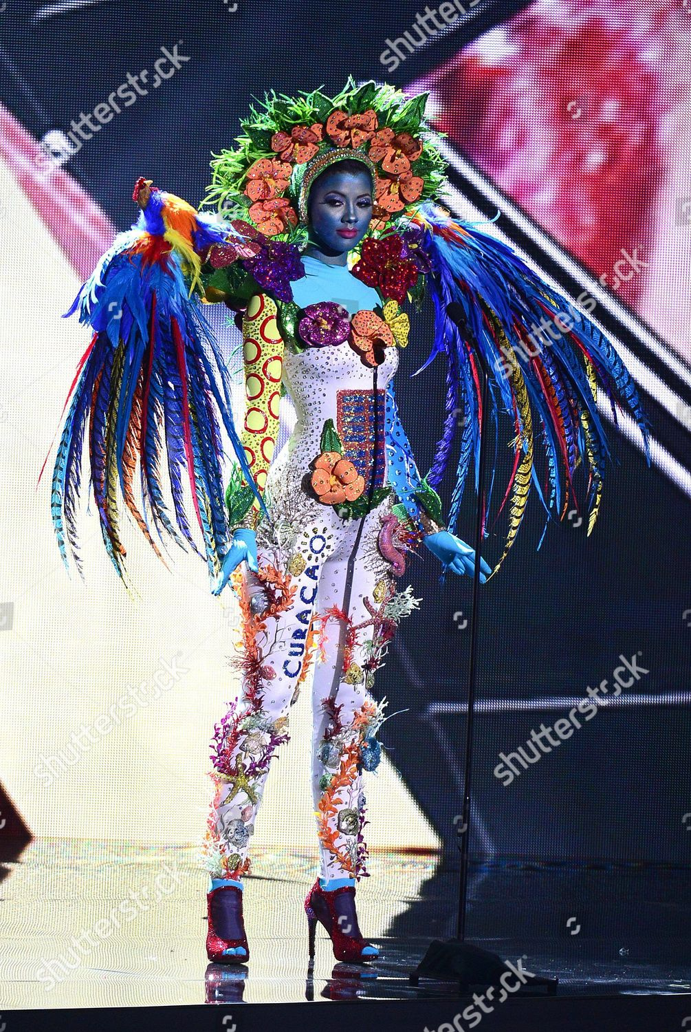 Miss Curacao Kanisha Sluis Competes National Costume