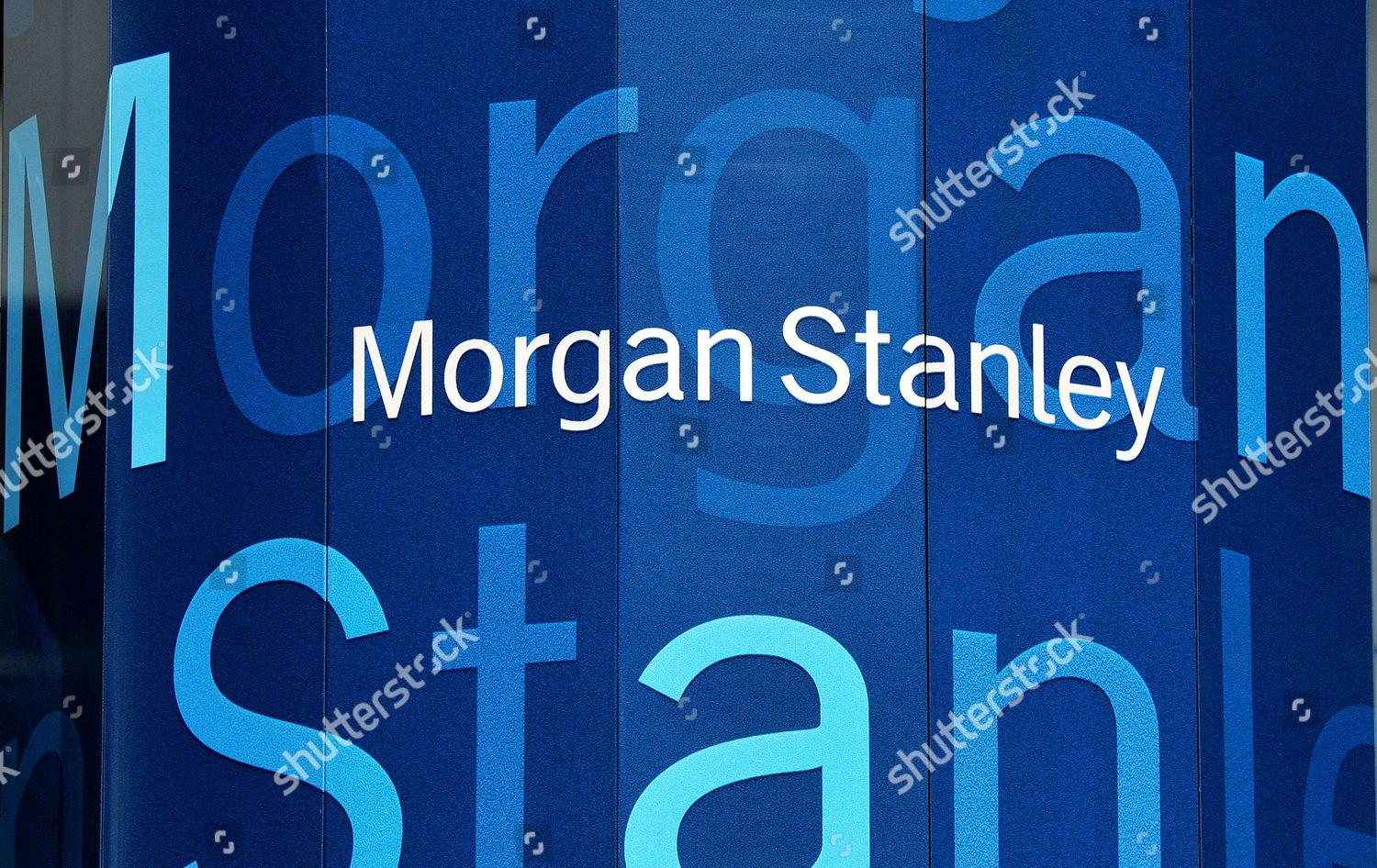 View Morgan Stanley Offices New York New Editorial Stock Photo