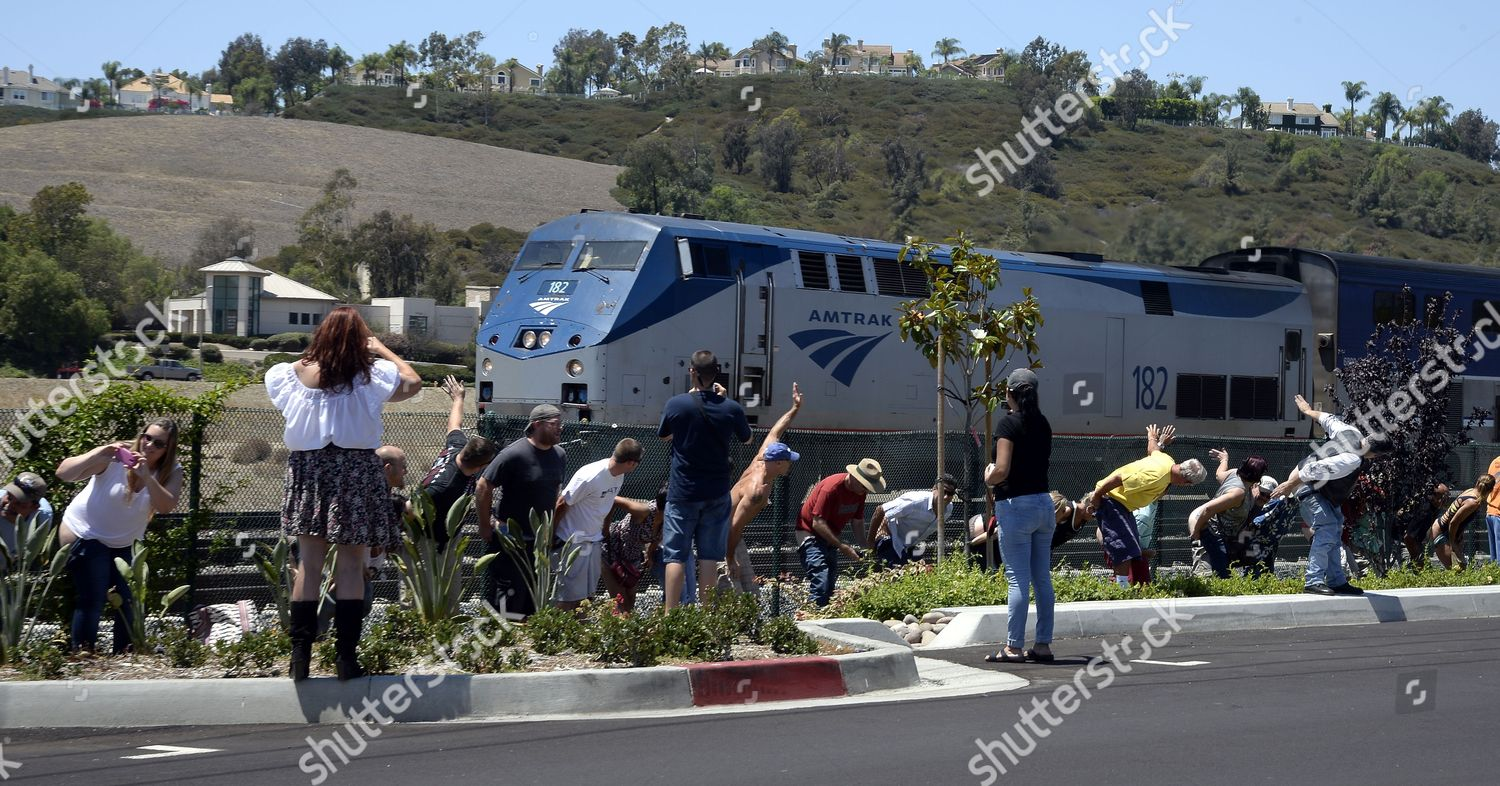 Amtrak Mooning Pictures people moon show their exposed buttocks oncoming editorial