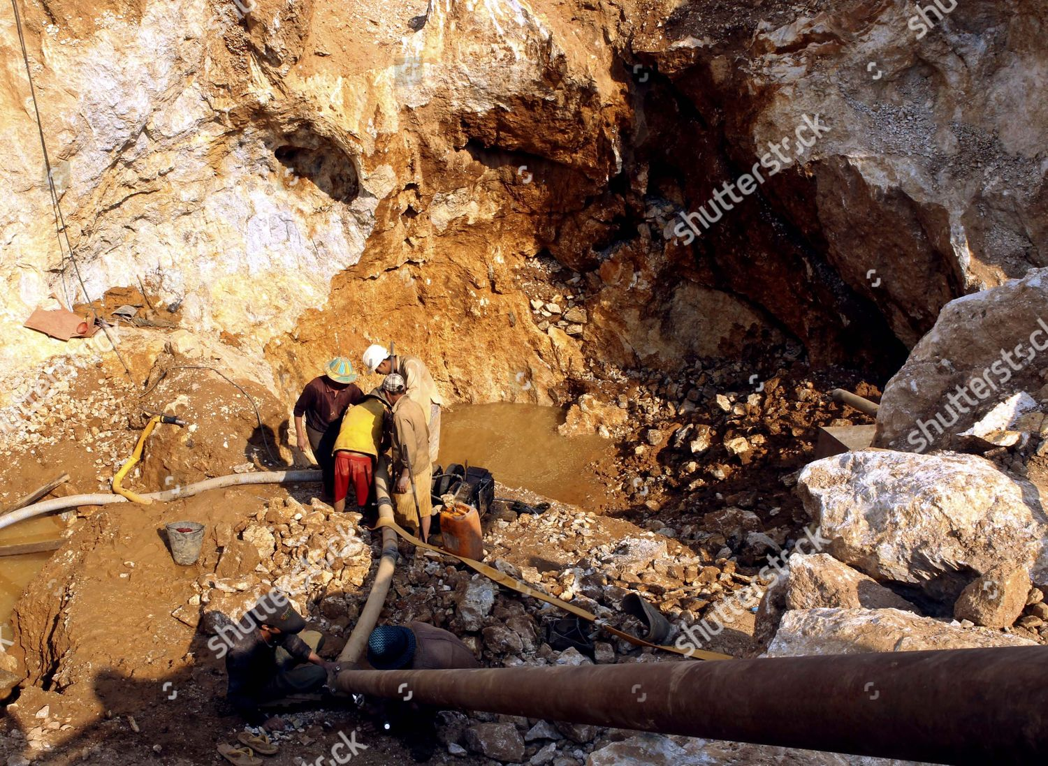 Mine Workers Ruby Mine Site Mogok About Editorial Stock