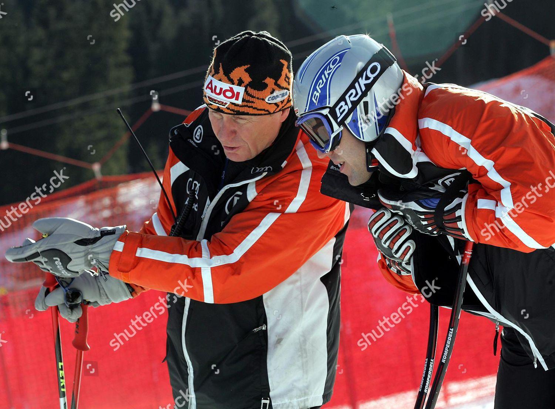German Coach Werner Margreiter l Talks Skier Editorial Stock