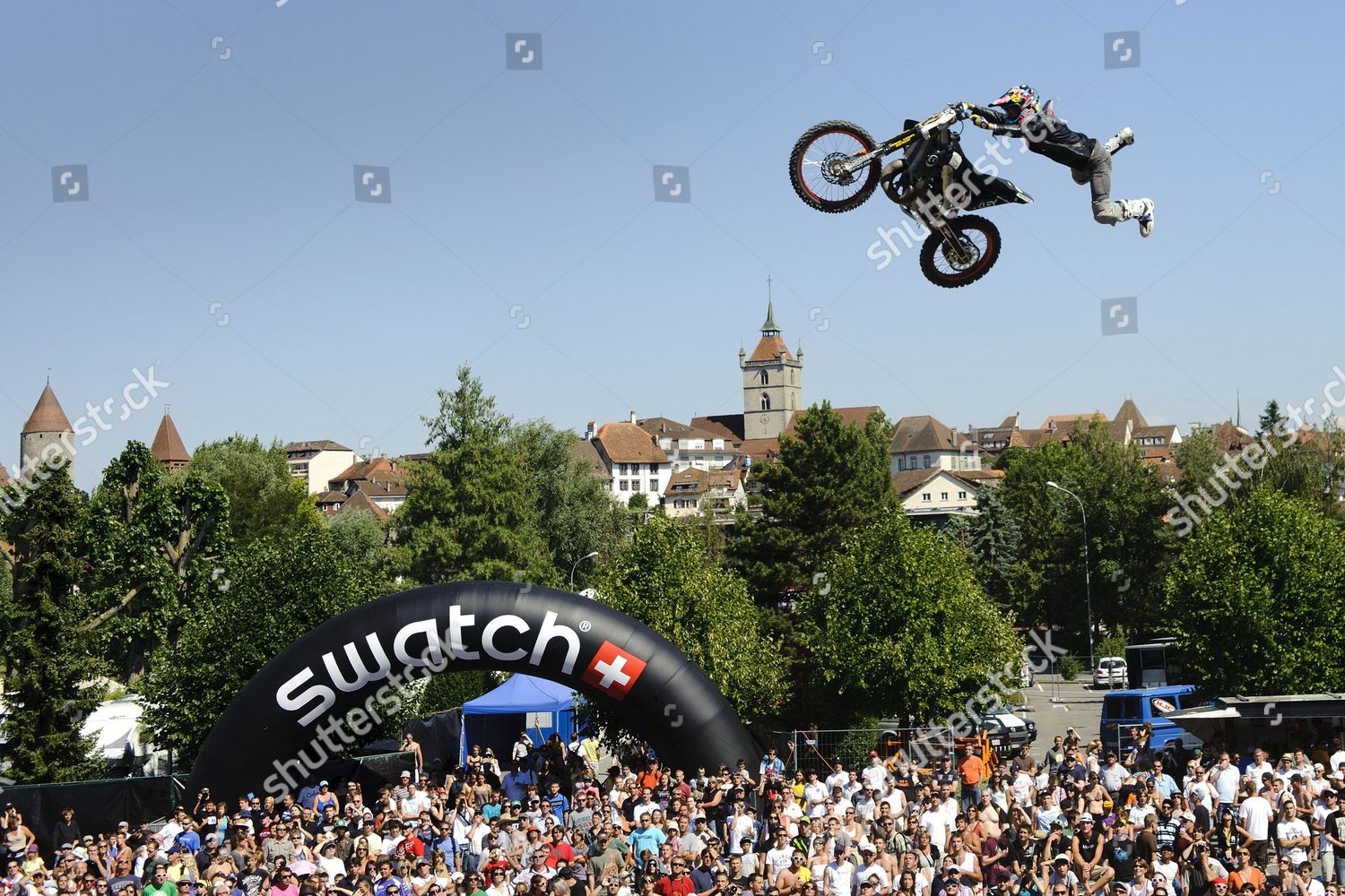 Second Placed Us Freestyle Motocross Pilot Drake Editorial Stock