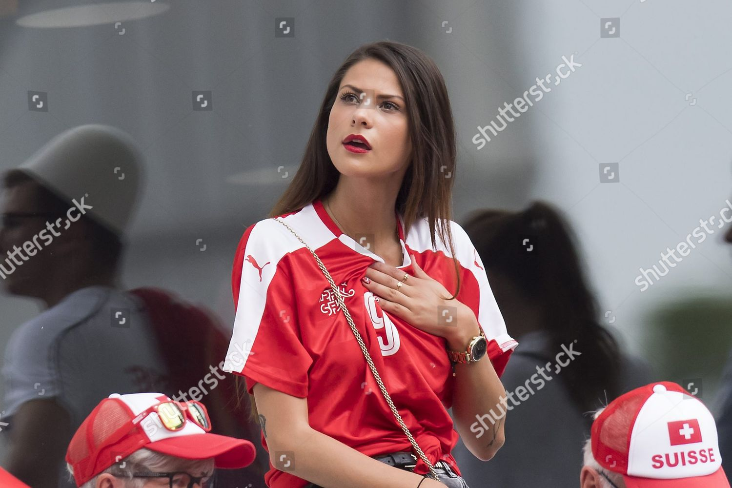 Amina Girlfriend Swiss Forward Haris Seferovic Cheers Editorial Stock Photo Stock Image Shutterstock