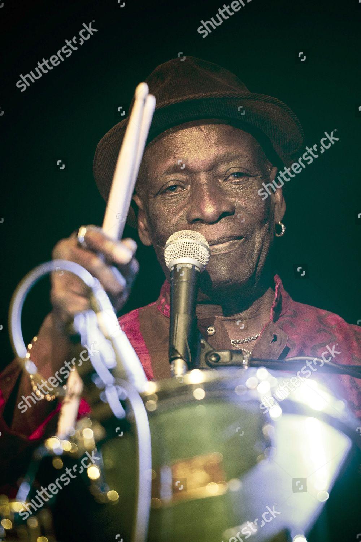 Nigerian Drummer Composer Songwriter Tony Allen Performs
