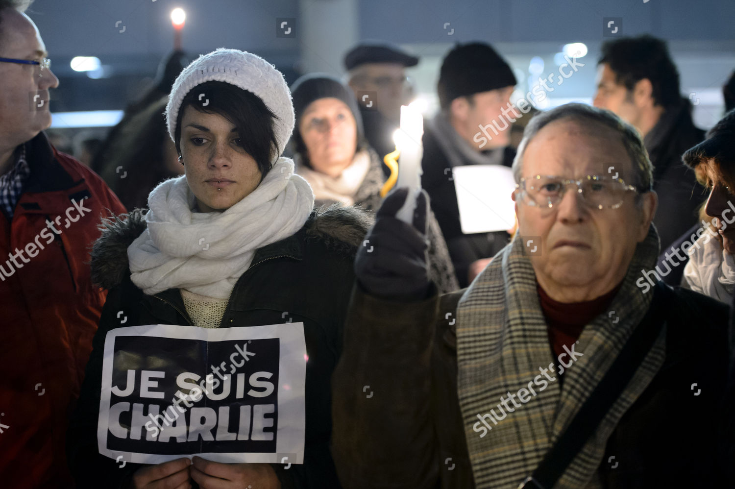 People Gather Rally Solidarity Killed Charlie Hebdo Editorial Stock Photo Stock Image Shutterstock