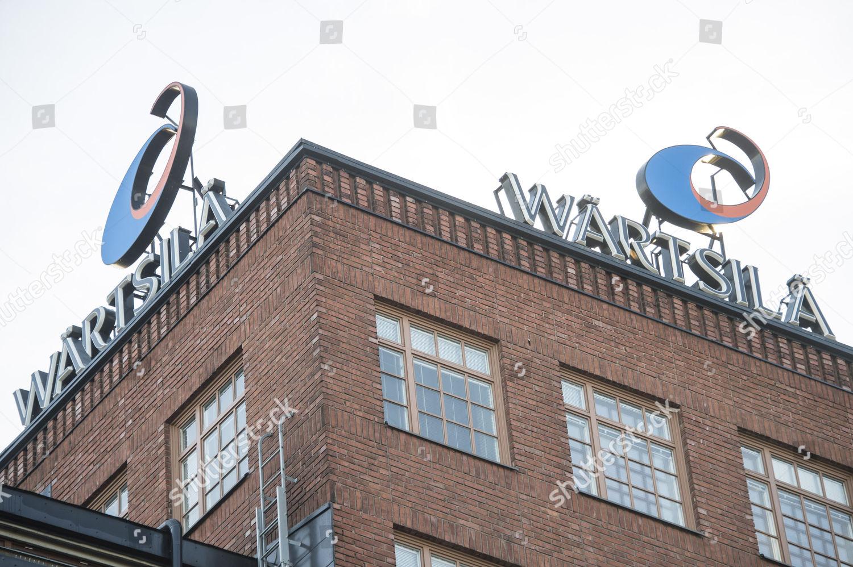company name logo seen on Wartsila Corporation Editorial Stock Photo