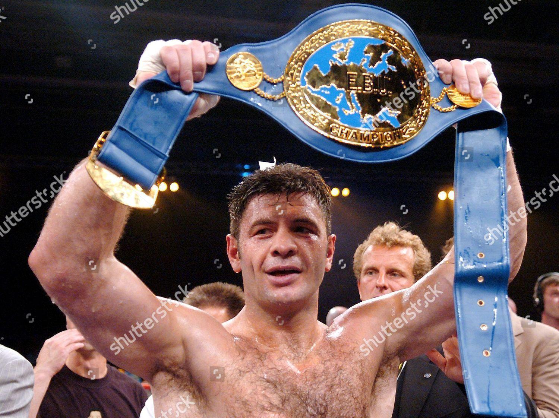 German Luan Krasniqi Celebrates European Champion Belt Editorial Stock Photo Stock Image Shutterstock