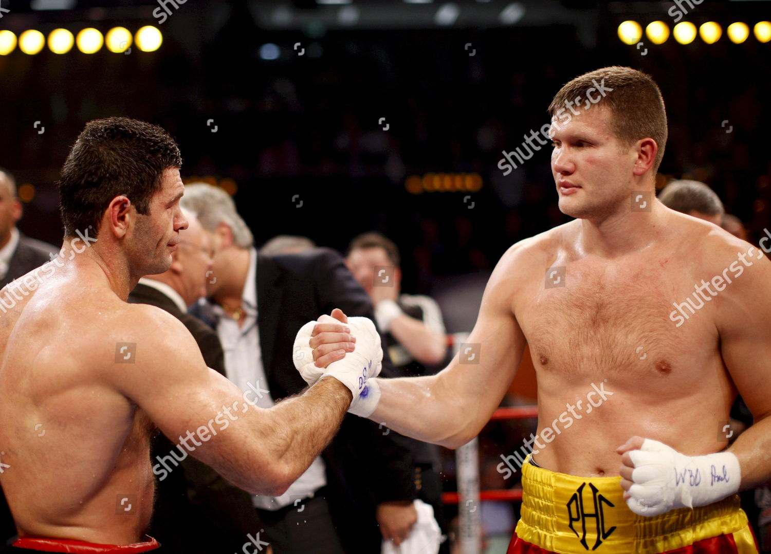 German Heavyweight Boxer Luan Krasniqi L Shakes Editorial Stock Photo Stock Image Shutterstock