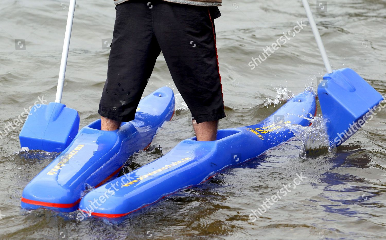 Felix Gebert Practises Walking on Water