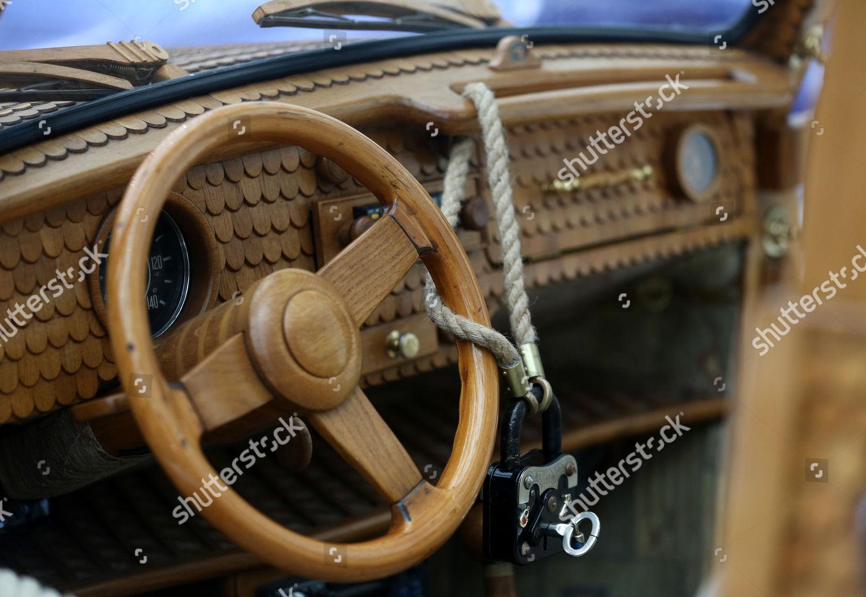 View Steering Wheel Vw Beetle Natural Wood Editorial Stock