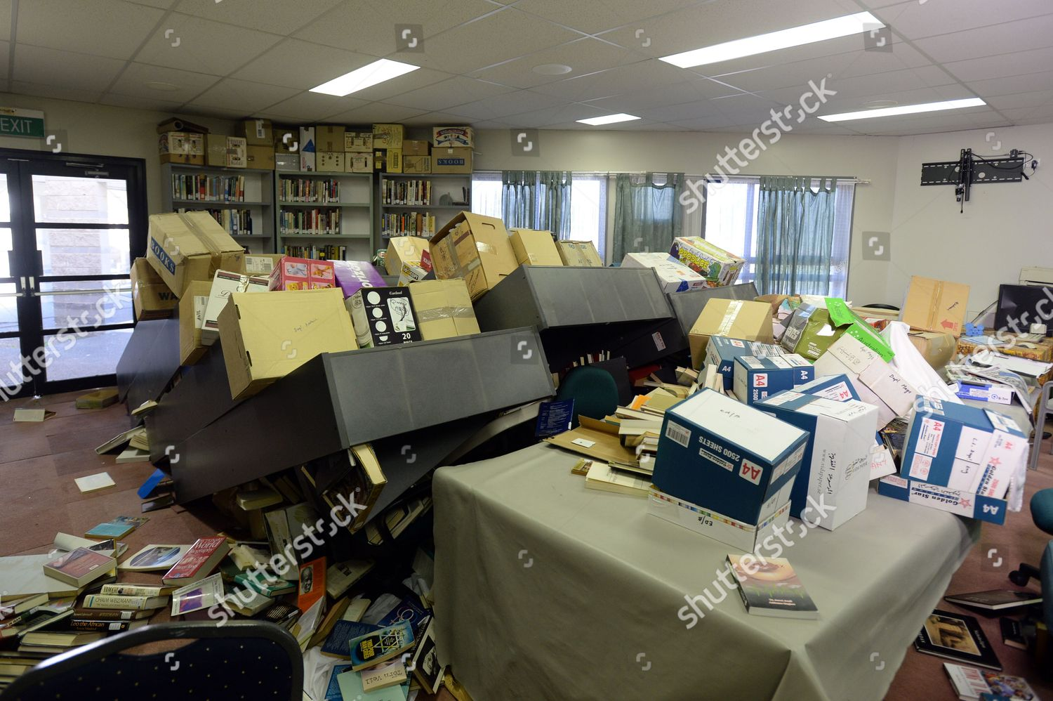 Interior View One Rooms Vandalized Library Canberra