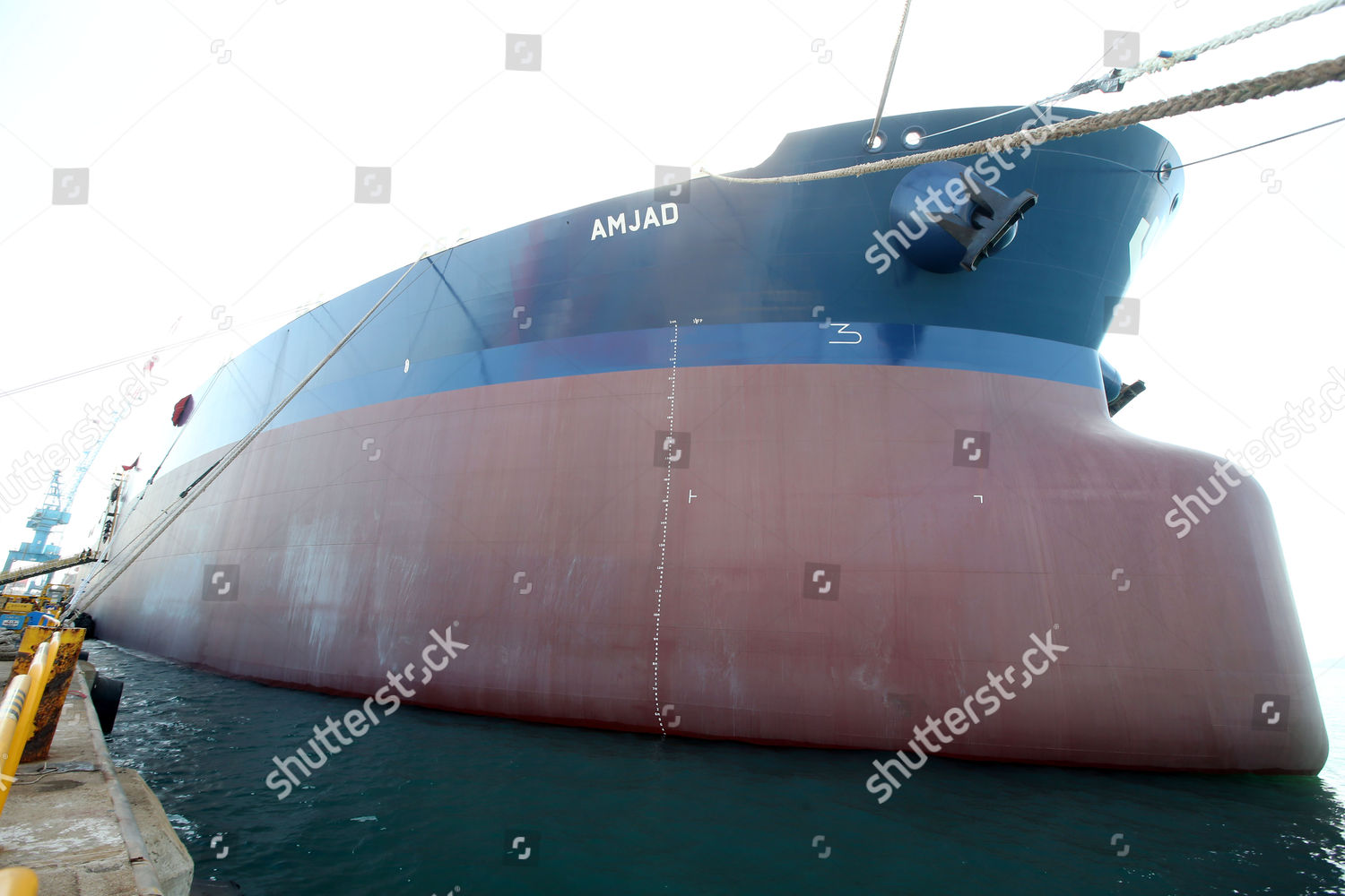 view Amjad very large crude carrier VLCC Editorial Stock