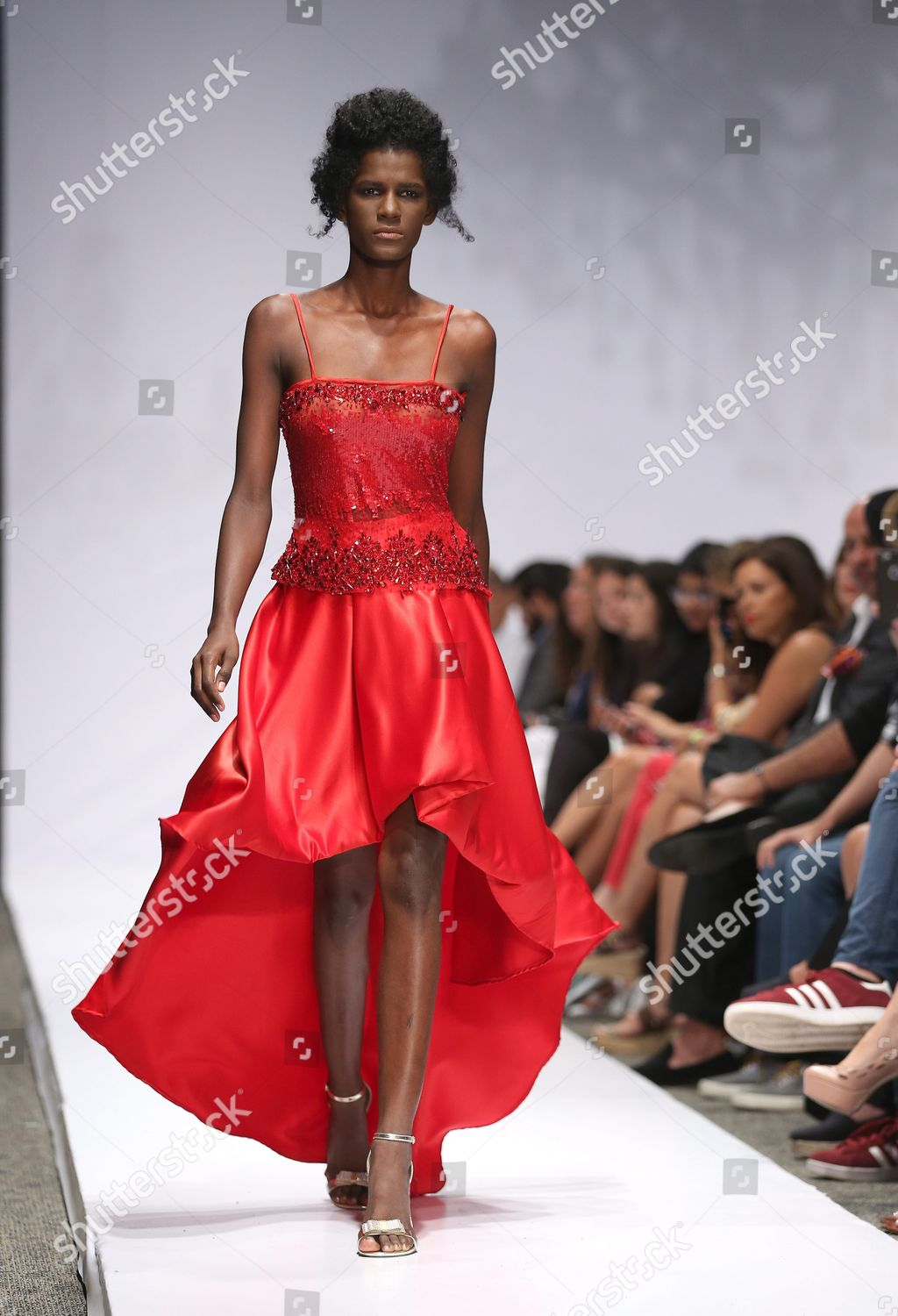 Model Presents Creation By Haitian Designer Maguy Editorial Stock Photo Stock Image Shutterstock