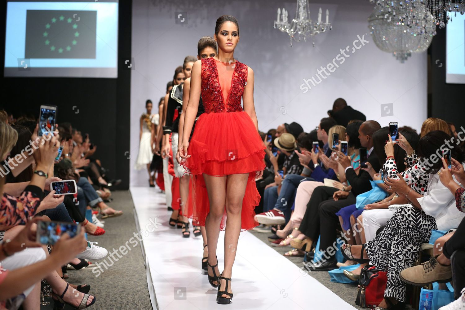 Models Present Creations By Haitian Designer Maguy Editorial Stock Photo Stock Image Shutterstock