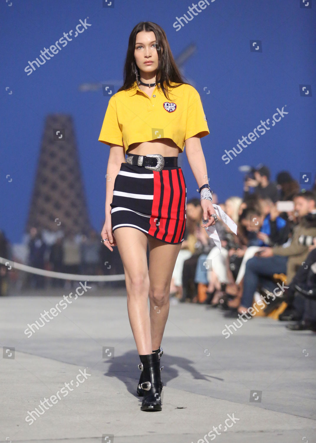 df6b6fbf4550 Stock photo of Tommy Hilfiger Spring 2017 Women s Collection featuring the TommyxGigi  Collection