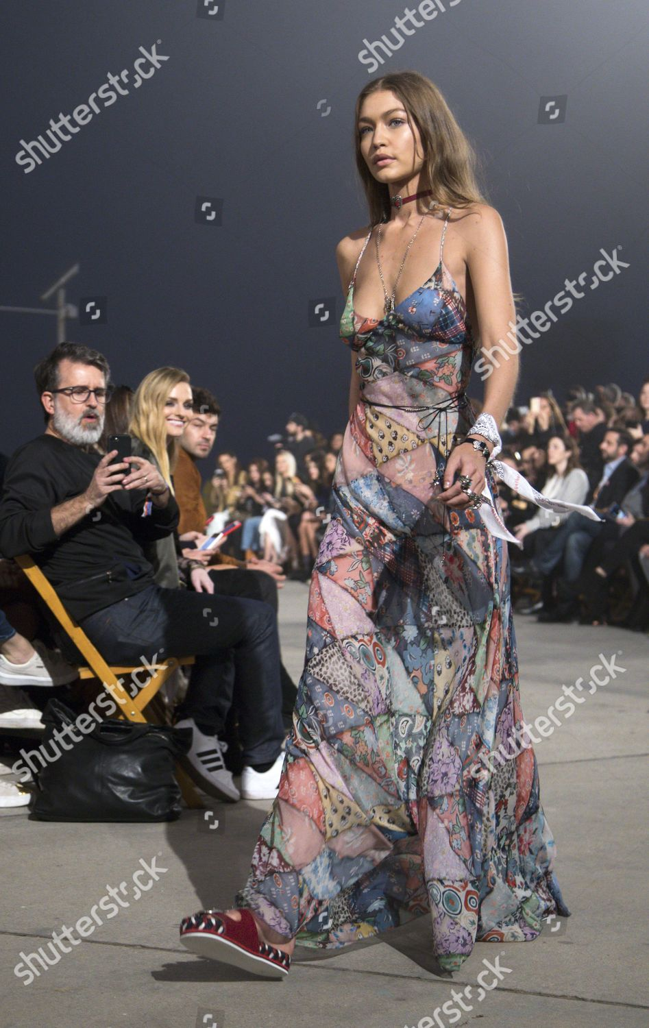 20339394 Stock photo of Tommy Hilfiger spring runway fashion show in Venice Beach,  California, USA