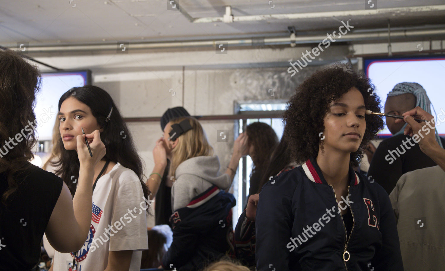 Models Prepare Backstage Before Fashion Designer Tommy Editorial Stock Photo Stock Image Shutterstock