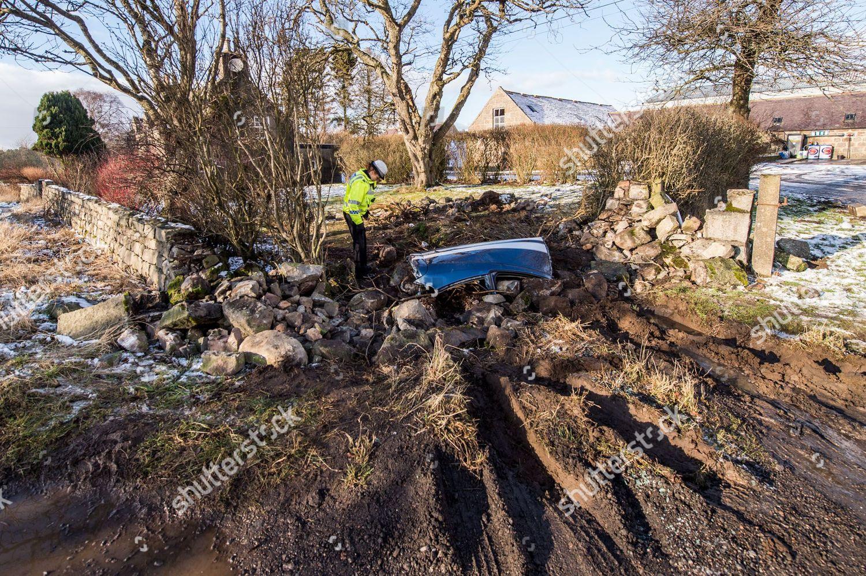 Police recovery remove debris garden Lochside Steading