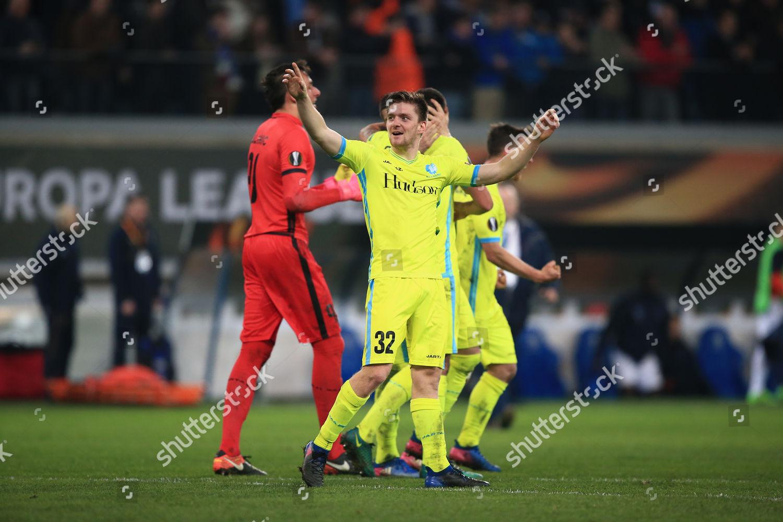 Stock photo of Football - UEFA Europa League 2016/17 Round Of 32 First Leg Gent v Tottenham Hotspur Ghelamco Arena, Gent, Belgium - 16 Feb 2017