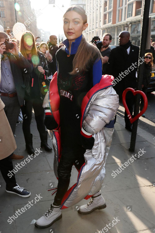 31c5b081 Gigi Hadid at Tommy Hilfiger Flagship Store, Autumn Winter 2017, London  Fashion Week,