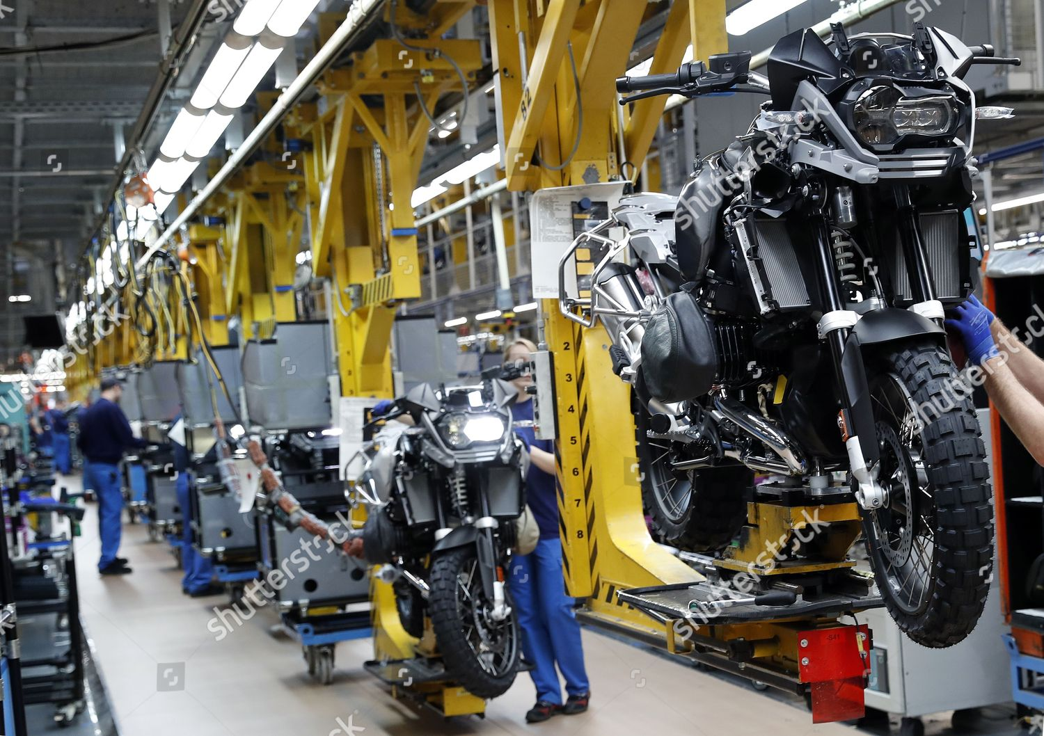 general view assembly line BMW motorcycle factory Editorial