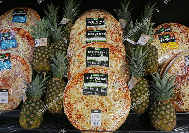 Asda Pure Pineapple Pizza Editorial Stock Photo Stock