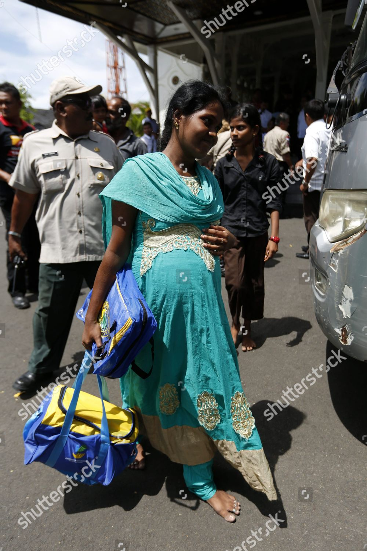 Sri Lankan Migrants Board Bus While on Editorial Stock Photo - Stock