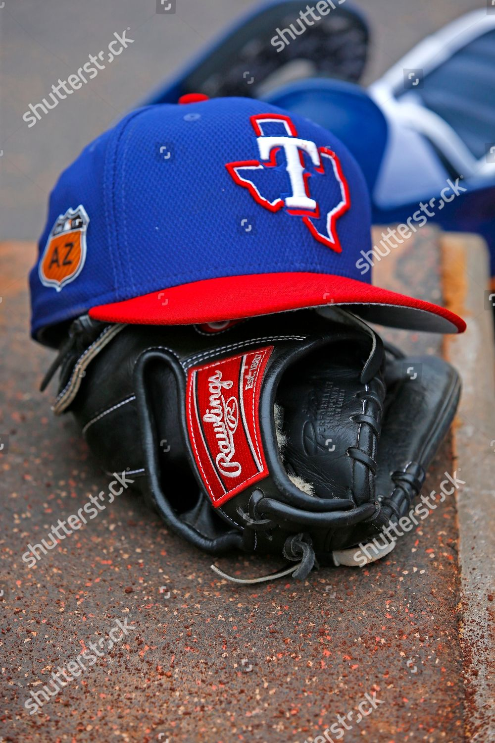 promo code ba4b6 51c6a Texas Rangers player leaves his hat glove Editorial Stock ...