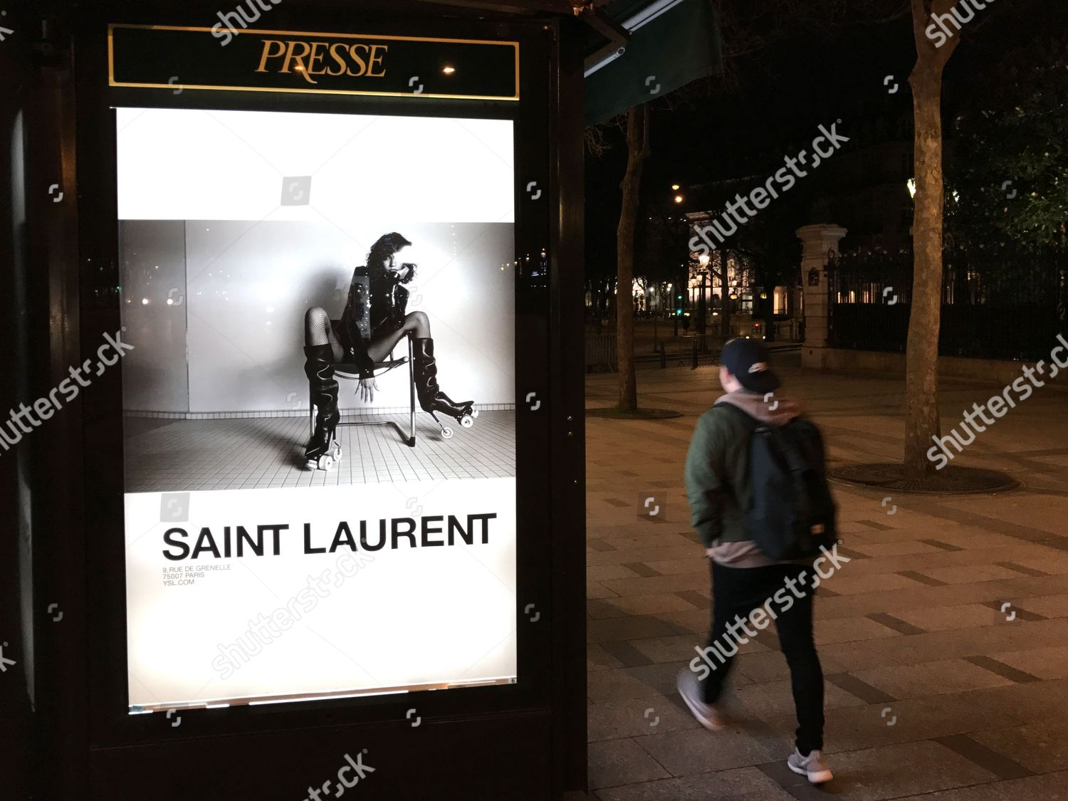 32db39ebf58 Yves Saint Laurent controversial poster campaign, Paris, France Stock Image  by JP Offord for editorial use, Mar 7, 2017