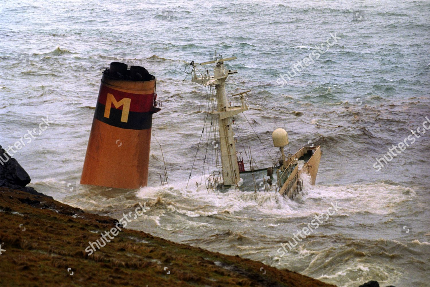 View Oil Tanker Braer Which Ran Aground Editorial Stock