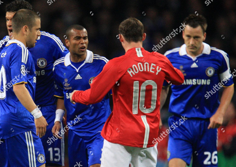 Ashley Cole Chelsea Squares Wayne Rooney Manchester