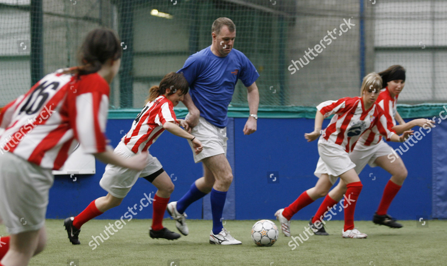 Former Manchester United player Gary Pallister plays