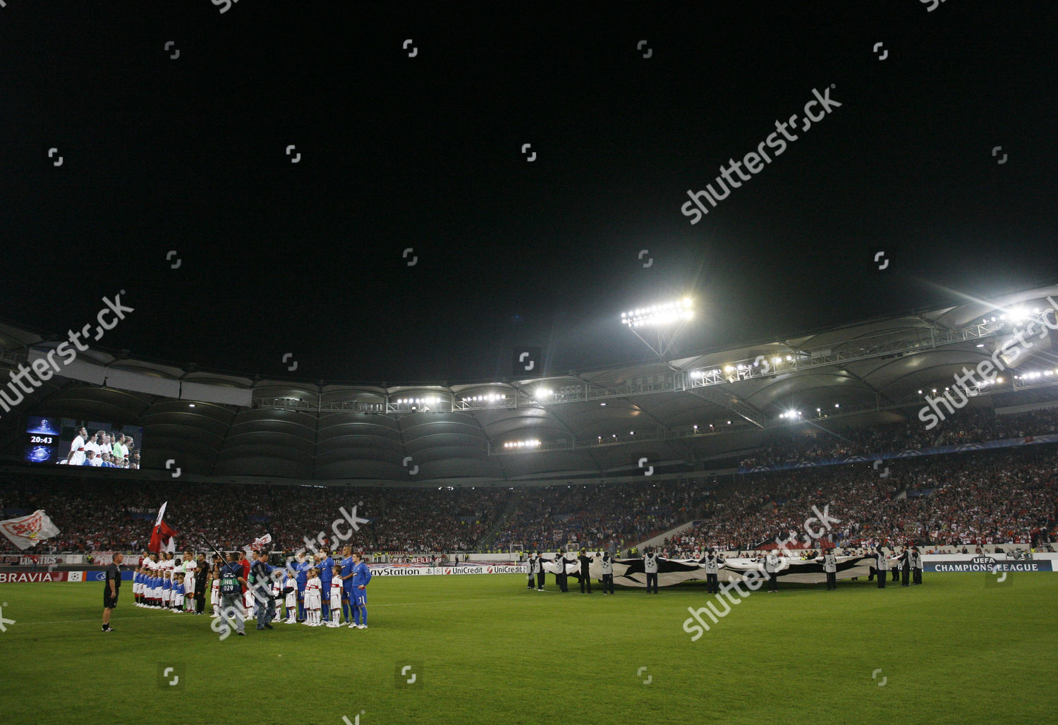 Ford Uefa Mascots Hold Champions League Banner Editorial Stock Photo Stock Image Shutterstock