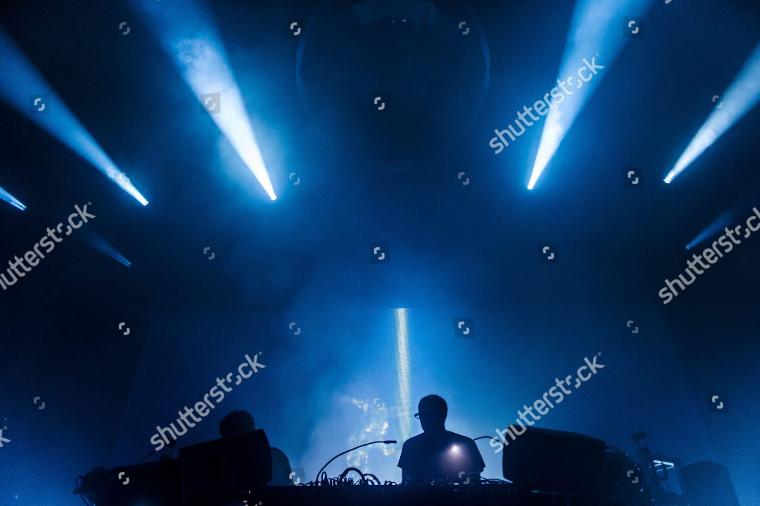 Montreux Jazz Festival 2015 >> British Electronic Dance Music Duo Chemical Brothers Editorial Stock